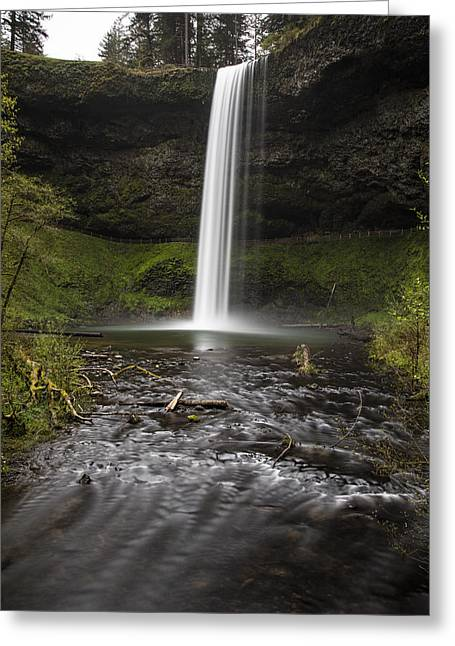 South Falls From Below Greeting Card