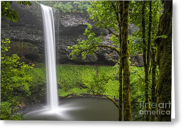 South Falls In Silver Falls State Park Greeting Card