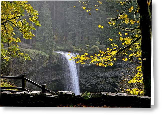 South Falls Of Silver Creek Greeting Card