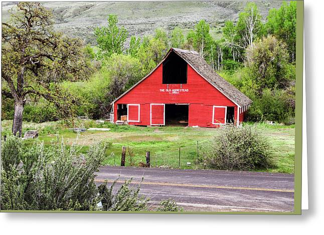 South Fork Homestead Barn Greeting Card by Ron Day
