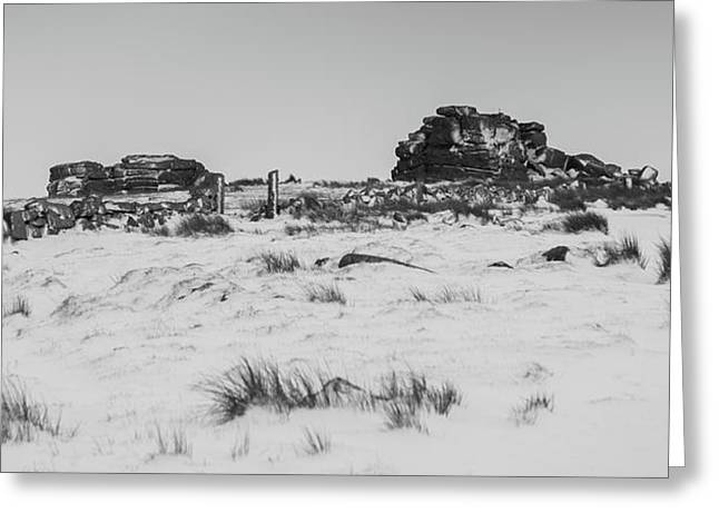 South Hessary Tor In The Snow Greeting Card