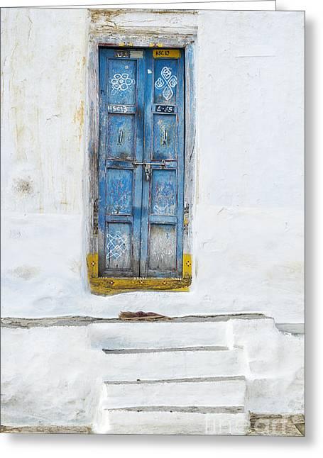 South Indian Door Greeting Card