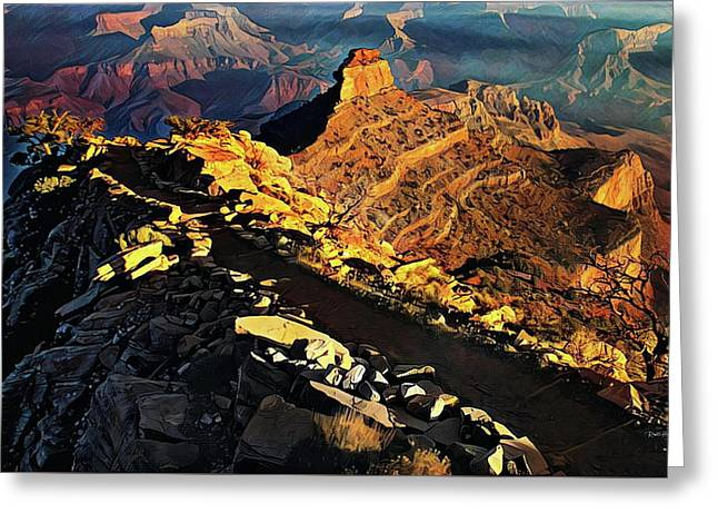 South Kaibab Trail - Grand Canyon Greeting Card by Russ Harris