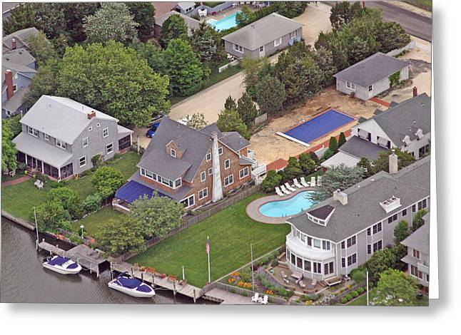 South Lagoon House Mantoloking New Jersey II Greeting Card by Duncan Pearson