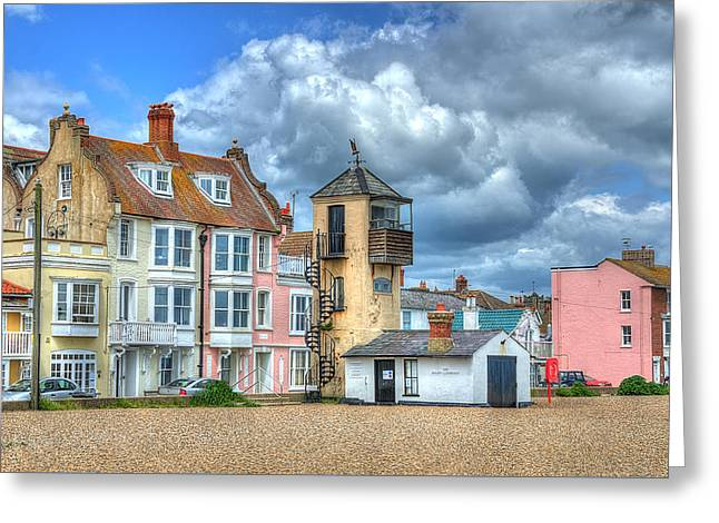 South Lookout Tower Aldeburgh Greeting Card