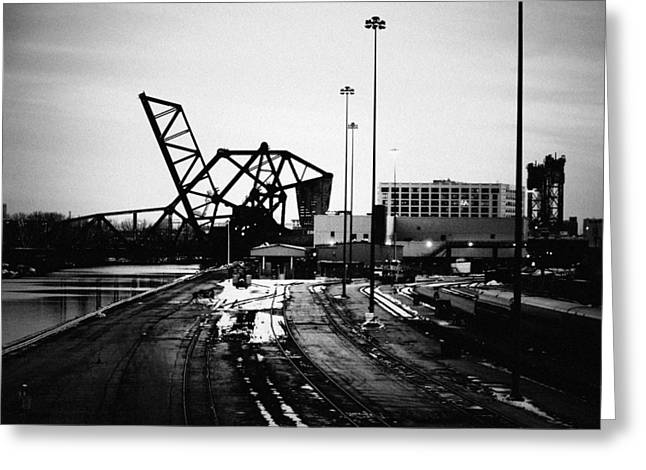 South Loop Railroad Bridge Greeting Card