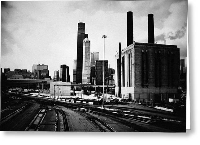 South Loop Railroad Yard Greeting Card