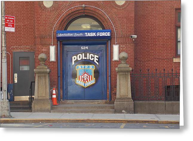 South Manhattan Task Force 1 Greeting Card by Nina Kindred