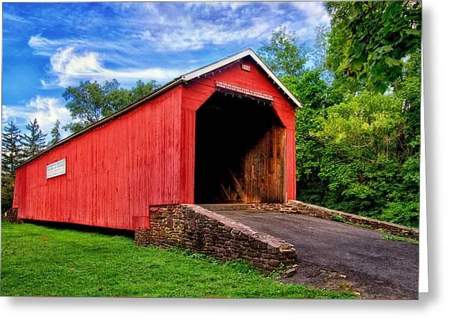 South Perkasie Covered Bridge Greeting Card