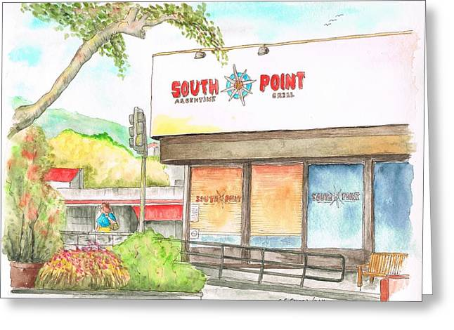South Point Restaurant, West Hollywood, California Greeting Card by Carlos G Groppa