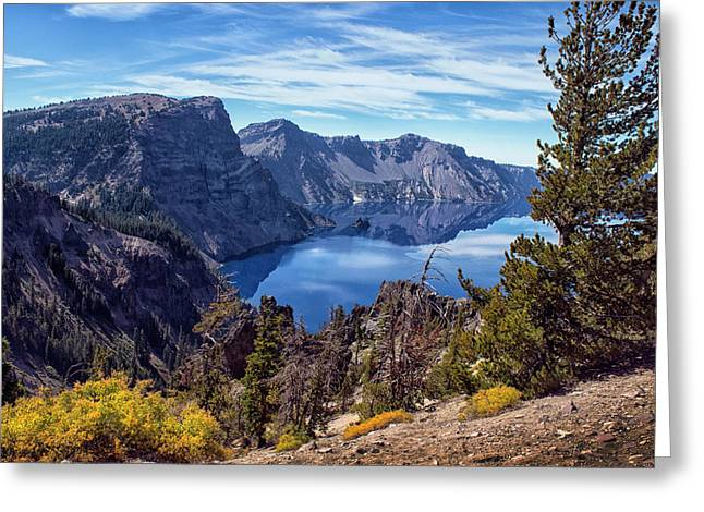 South Rim Of Crater Lake Greeting Card by Frank Wilson