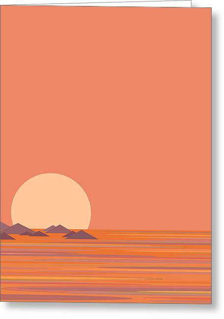 South Sea Islands Greeting Card by Val Arie