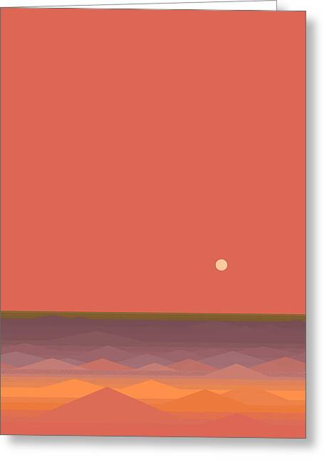 South Seas Abstract - Vertical Greeting Card by Val Arie