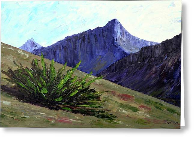 South Side Of O'malley Peak Greeting Card