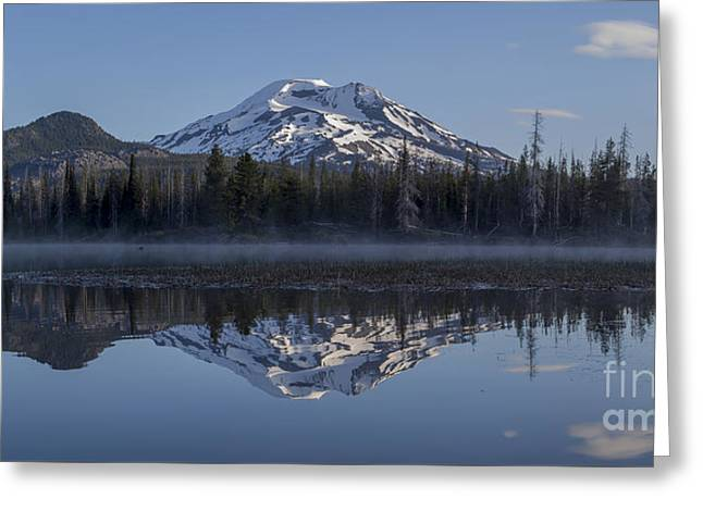 South Sister At Sunrise Over Sparks Lake Greeting Card