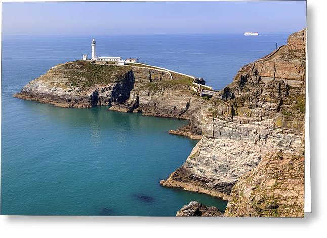 South Stack - Wales Greeting Card by Joana Kruse