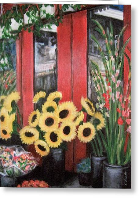 South Street Flowers Greeting Card