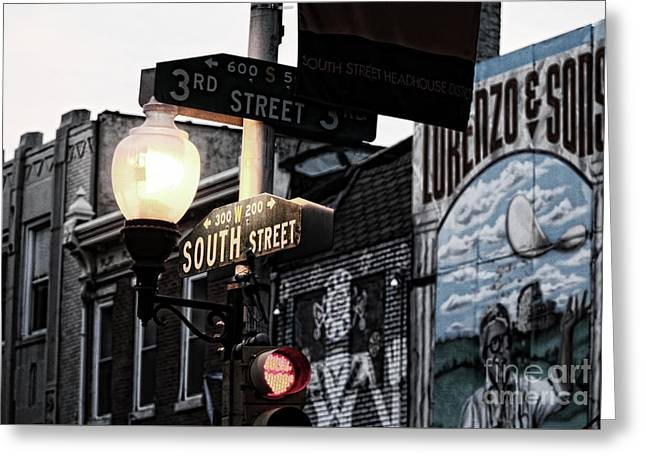 South Street Philly 1 Greeting Card by Chuck Kuhn