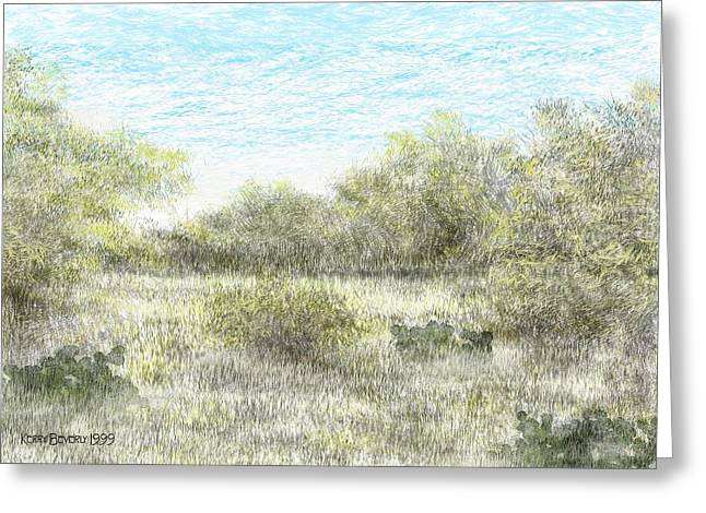 South Texas Brush Country II Greeting Card