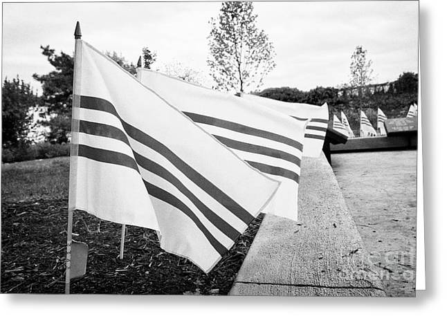 south vietnamese flags at the Philadelphia republic of south vietnam freedom and heritage flag monum Greeting Card