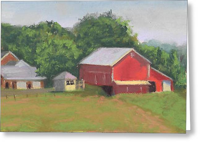 South View Of Meyer Farm Greeting Card by Terri  Meyer