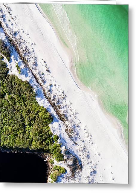 South Walton Dune Barrier Aerial Greeting Card