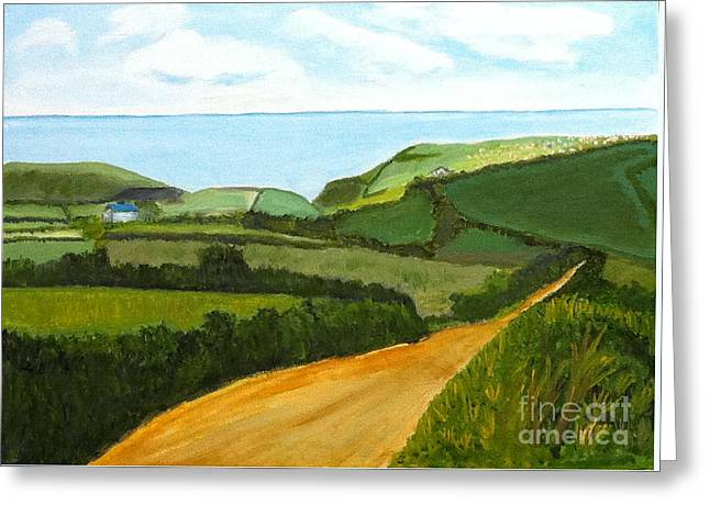 South West England Countryside Cotswold Area Greeting Card