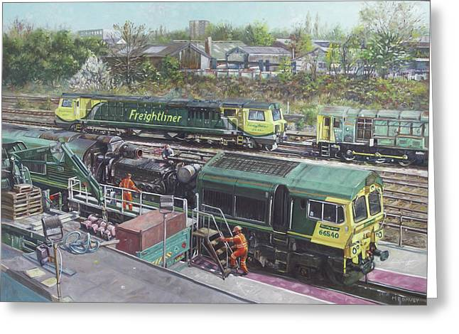 Southampton Freightliner Train Maintenance Greeting Card