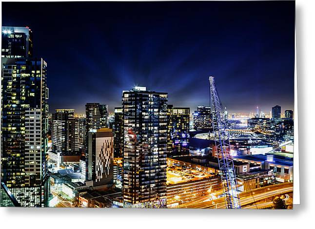 Southbank Melbourne By Night Greeting Card