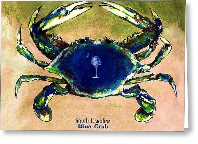 Southcarolina Blue Crab Greeting Card by Eddie Glass