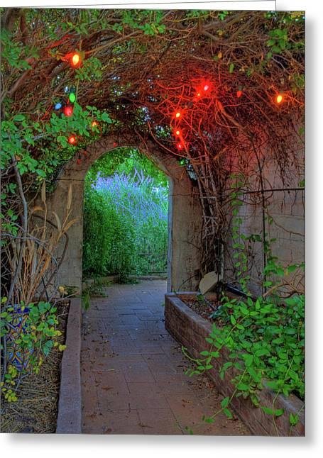 Bisbee Greeting Cards - Southeast Arizona Garden Greeting Card by Charlene Mitchell