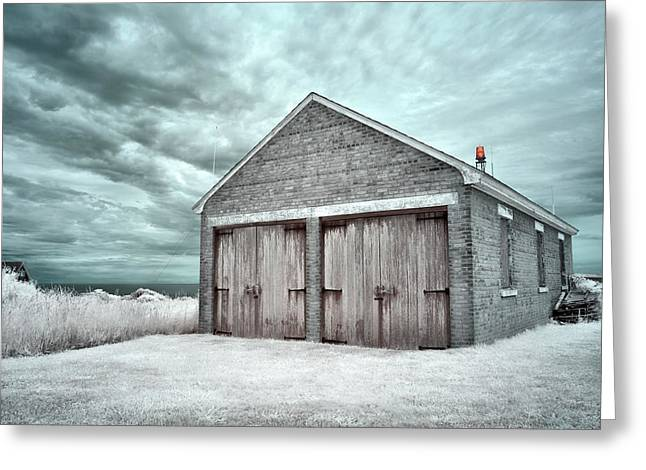 Southeast Light Boathouse Greeting Card
