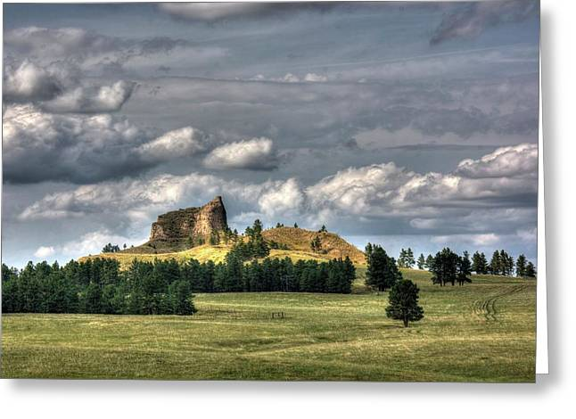Belltower Butte Greeting Card