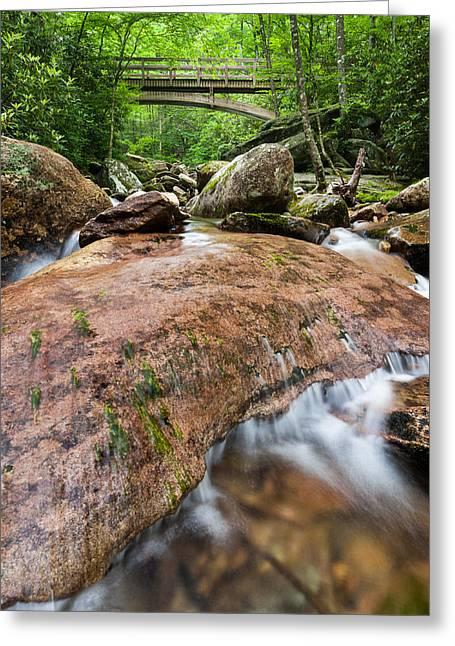 Southern Appalachian Mountain Stream Bridge Greeting Card