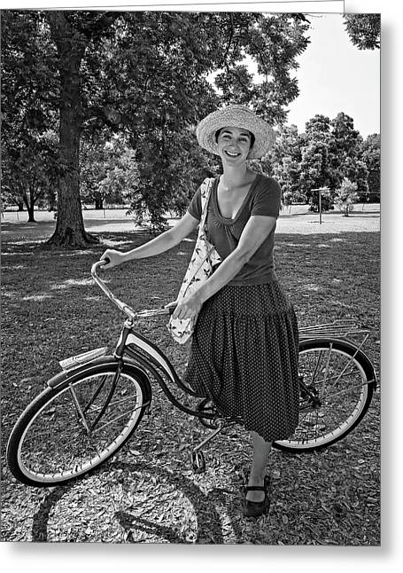 Southern Belle Bw Greeting Card