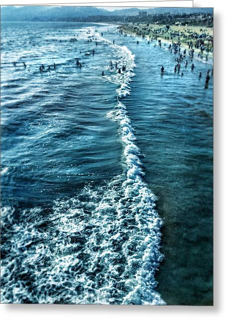 Swimmers Greeting Cards - Southern California Beach Greeting Card by Jill Battaglia