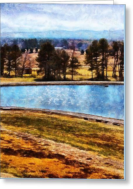 Southern Farmlands Greeting Card
