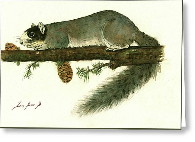 Southern Fox Squirrel  Greeting Card by Juan Bosco