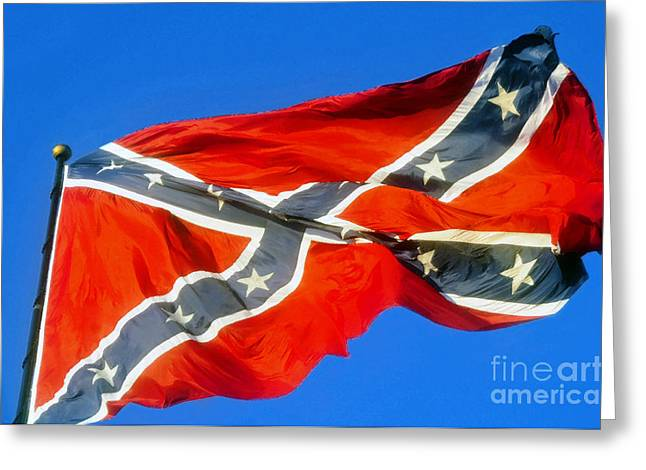 Southern Heritage Greeting Card by David Lee Thompson