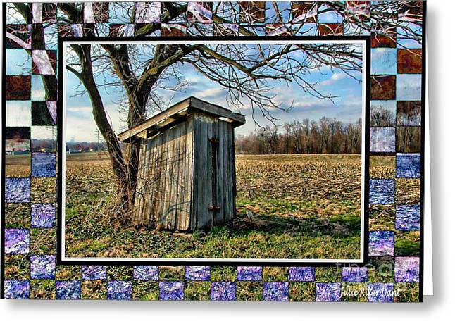 Southern Indiana Outhouse Greeting Card by Julie Dant