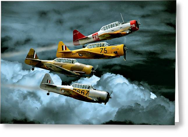 Plane Greeting Cards - Southern Knights Greeting Card by Steven Agius