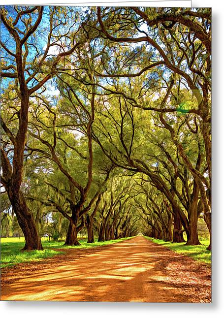 Southern Lane 4 - Paint Greeting Card