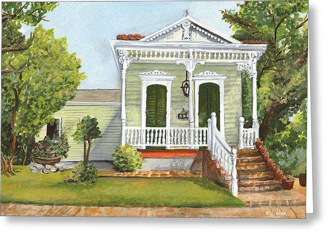 Southern Louisiana Charm Greeting Card by Elaine Hodges