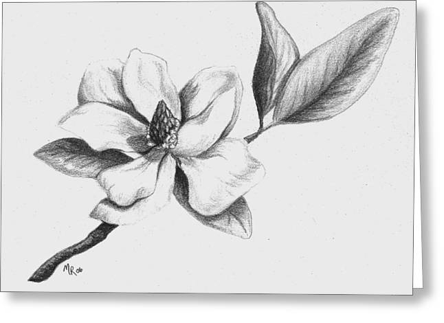 Southern Magnolia Greeting Card by Mary Rogers