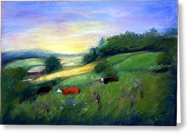 Greeting Card featuring the painting Southern Ohio Farm by Gail Kirtz
