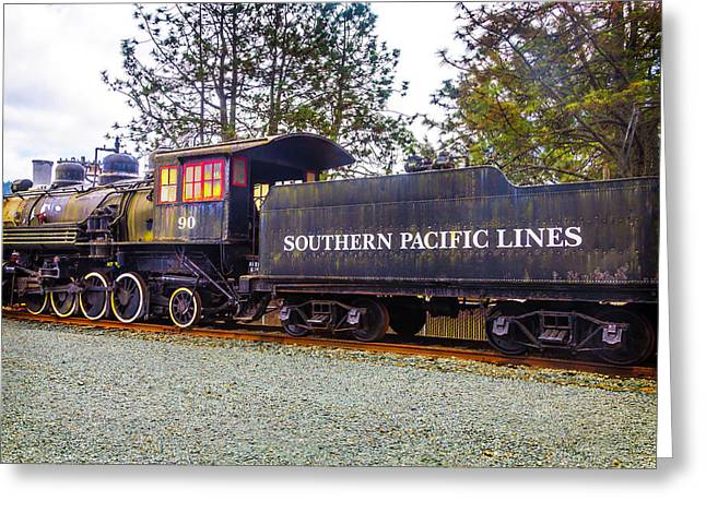 Southern Pacific Lines Old Train Greeting Card by Garry Gay
