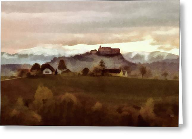 Southern Styria With Castle Riegersburg Greeting Card
