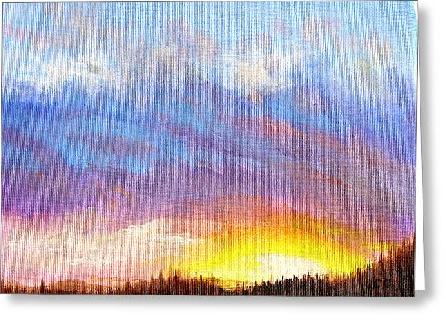 Southern Sunset Greeting Card by JoAnne Castelli-Castor