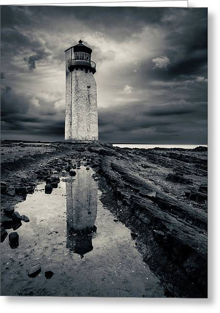 Southerness Lighthouse Greeting Card by Dave Bowman