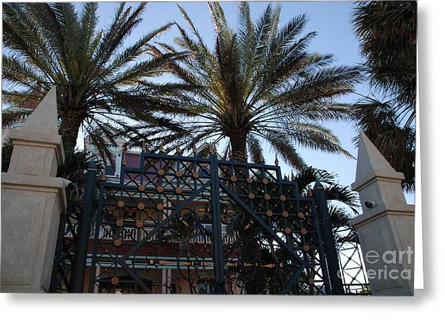 Southernmost Hotel Entrance In Key West Greeting Card by Susanne Van Hulst